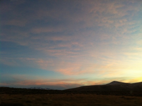 nevada mountains sunset