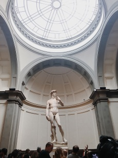 Michelangelo's David in Florence's Accademia