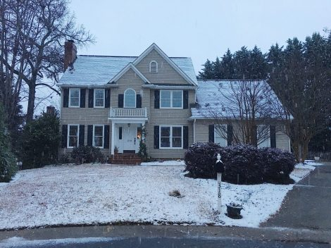 On the day it snowed in South Carolina, we handed over the keys to the eager new owner of our house.